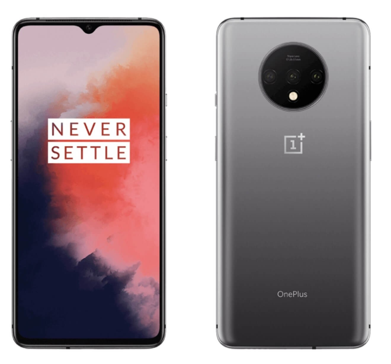 Oneplus 7T - HD1907 - Frosted Silver/Glacier Blue - 128GB - T-Mobile Unlocked
